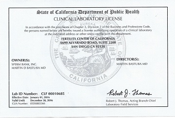CA clinical lab license 2016